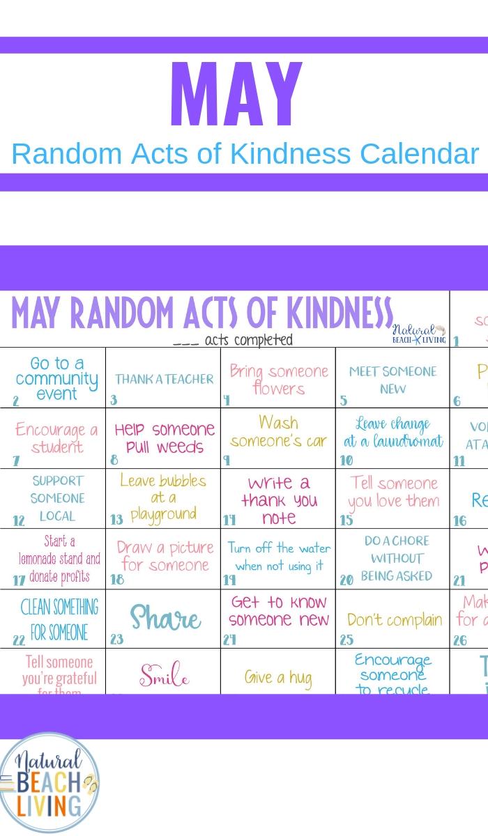 May Random Acts of Kindness Calendar