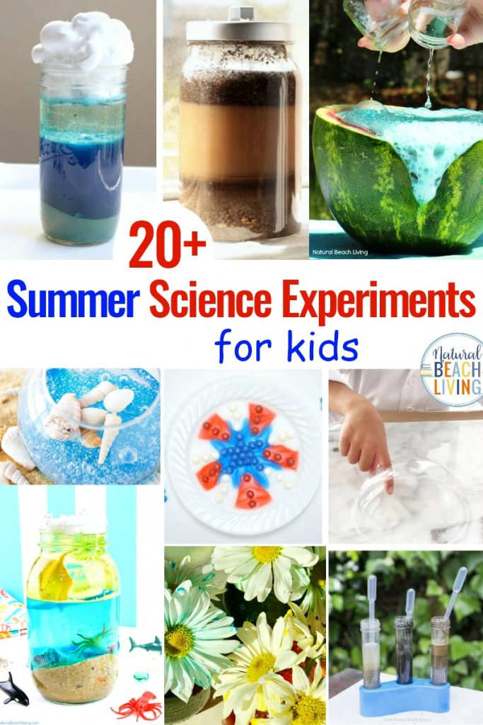 These Summer Science Experiments for kids are awesome! They will have your children learning about water density and ocean zones through Simple Science Experiments, making things erupt and explode for fun Science Experiments for preschoolers, 25+ Science Activities for Kids that inspire children to enjoy science with Hands on Science Activities