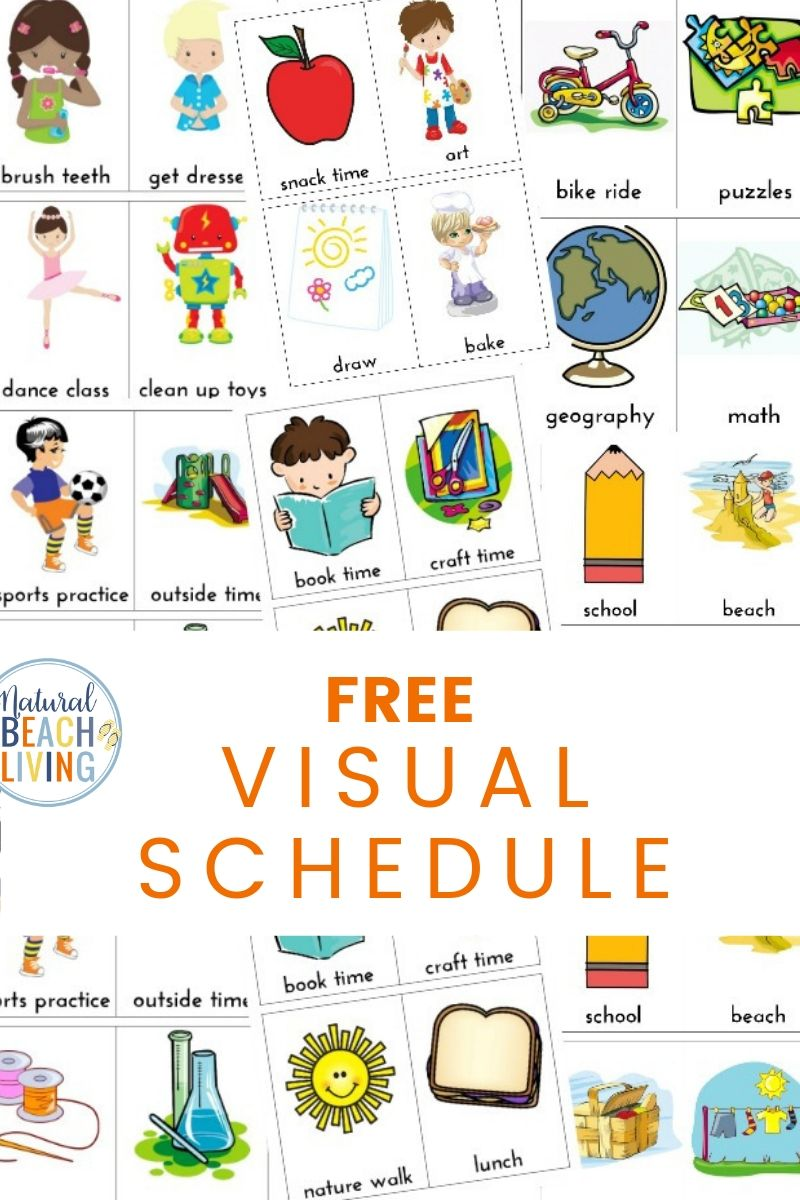 image relating to Free Printable Visual Schedule for Preschool identify Day by day Visible Routine for Children No cost Printable - Natural and organic