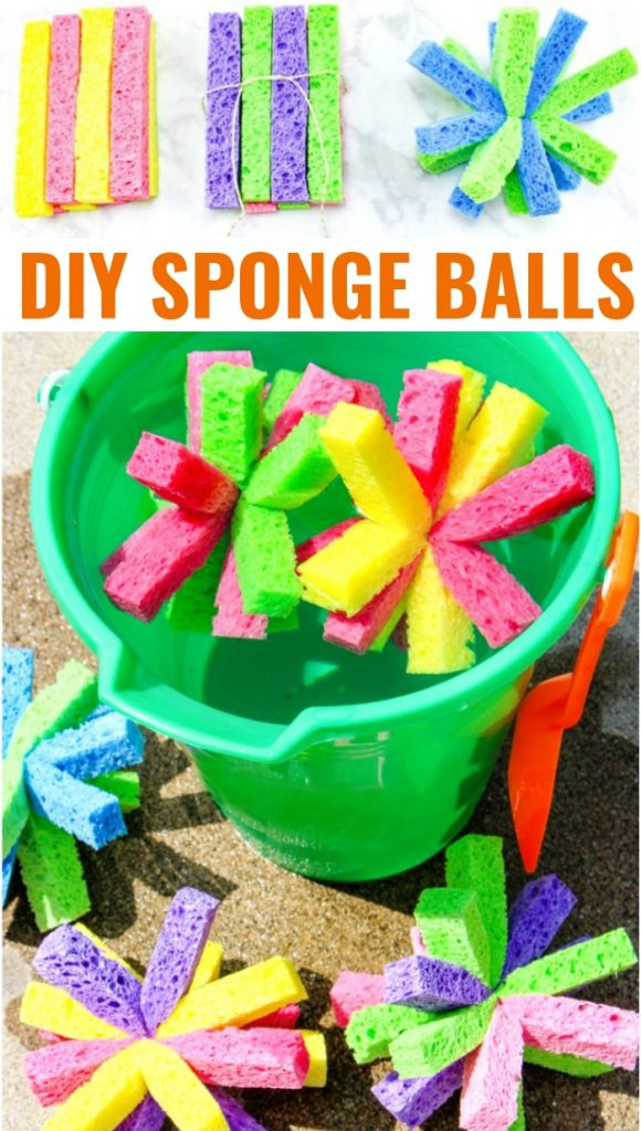 How to Make Super Soaker Sponge Balls Kids Will Love, These DIY Sponge Balls and Sponge Water Bombs are Perfect Summer fun, Water Activities for Kids that are cheap and easy, Summer Activities for Kids with DIY SPLASH Balls are a Perfect Summer Party Idea too