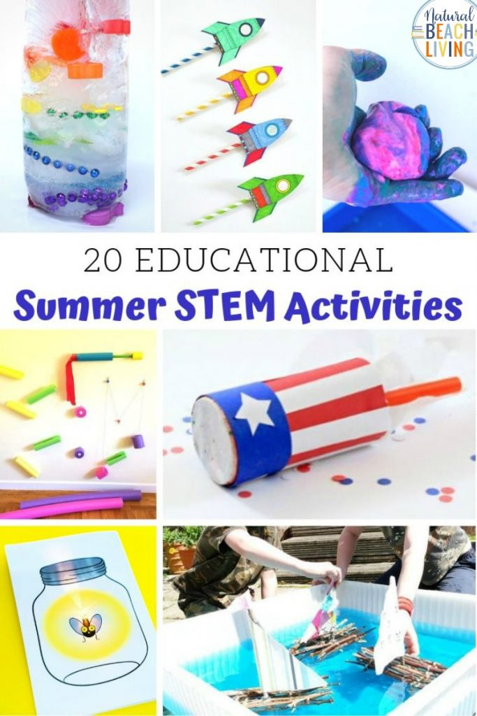 These Summer STEM preschool activities are simple enough for preschoolers and offer tons of hands-on learning, STEM for Preschoolers with STEM Challenges and free STEM Worksheets for kids, Summer Themes with STEM ACTIVITIES for Kids