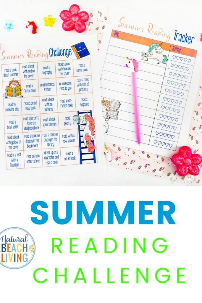 Summer Reading Challenge and Summer Reading Log for Kids is full of inspiring ways to play, learn, and explore with great books, you'll get 26 challenge ideas and a reading log making reading fun for children of all ages. Unicorn Reading Challenge for Kids and Reading Challenges for Students