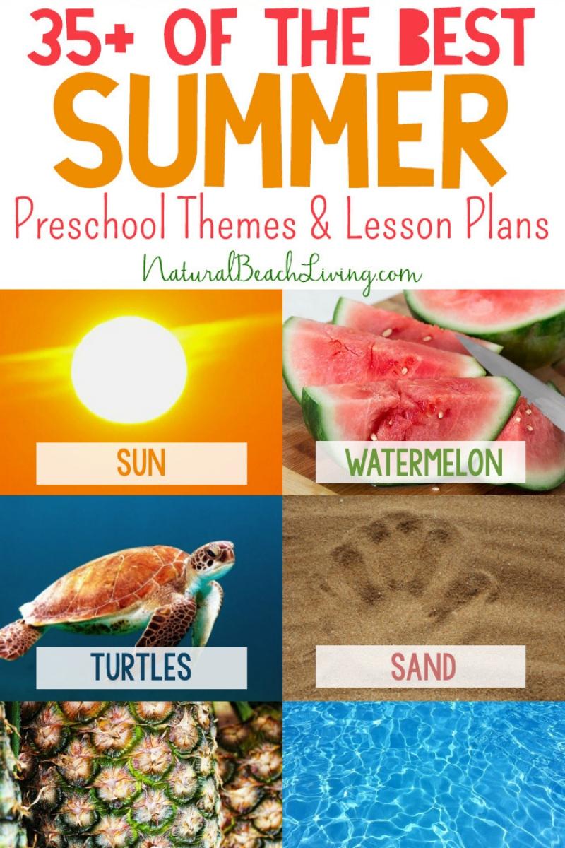 35+ Summer Preschool Themes and Activities