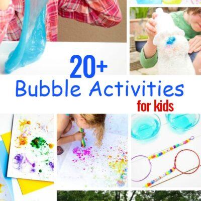 20+ Bubble Activities for Preschoolers