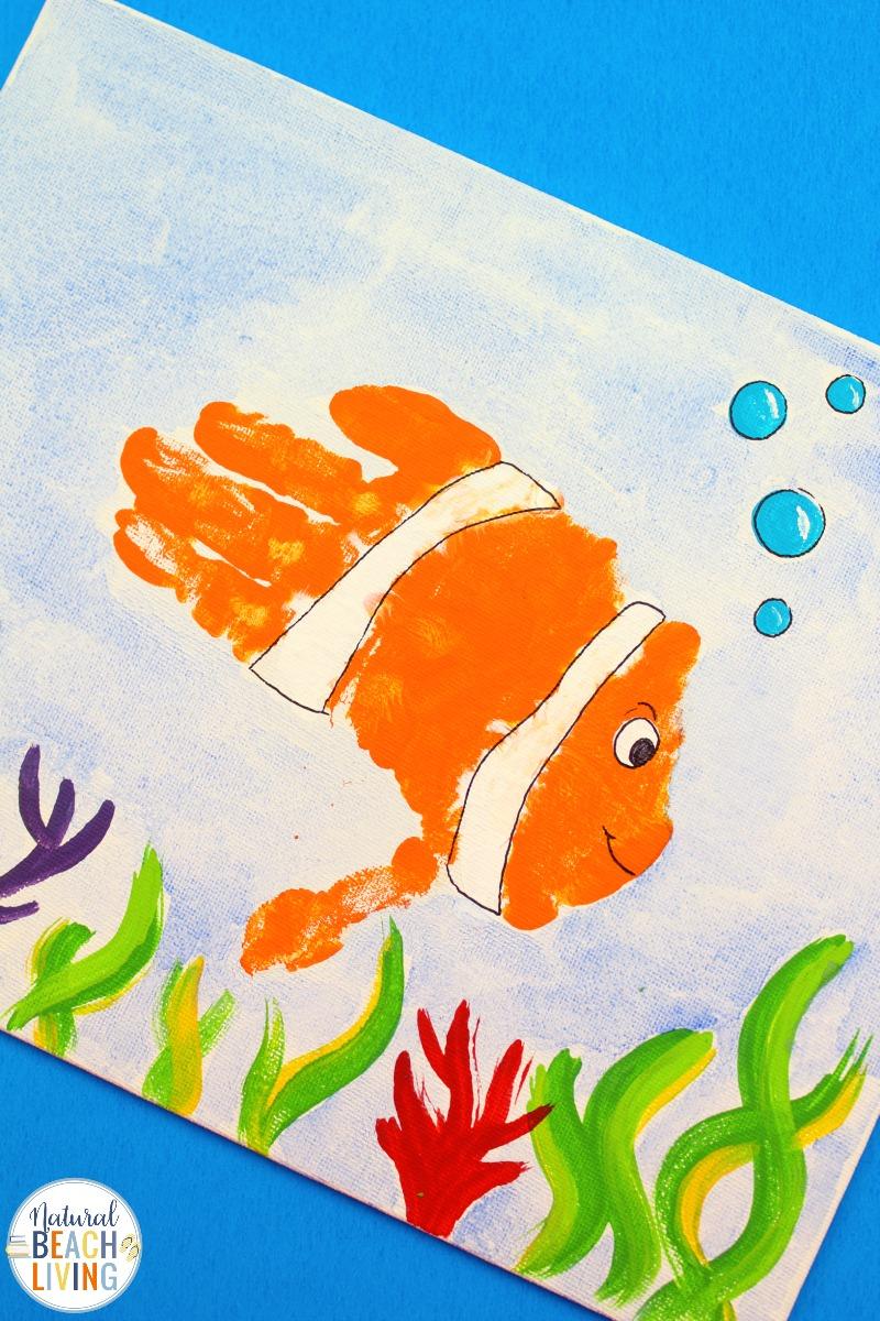 Handprint Fish Crafts for Preschoolers – Easy Under the Sea Activities