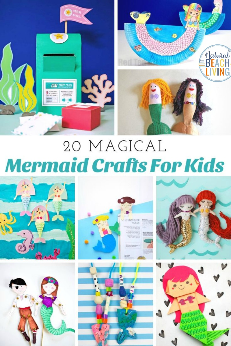 20 Mermaid Crafts For Kids Natural Beach Living