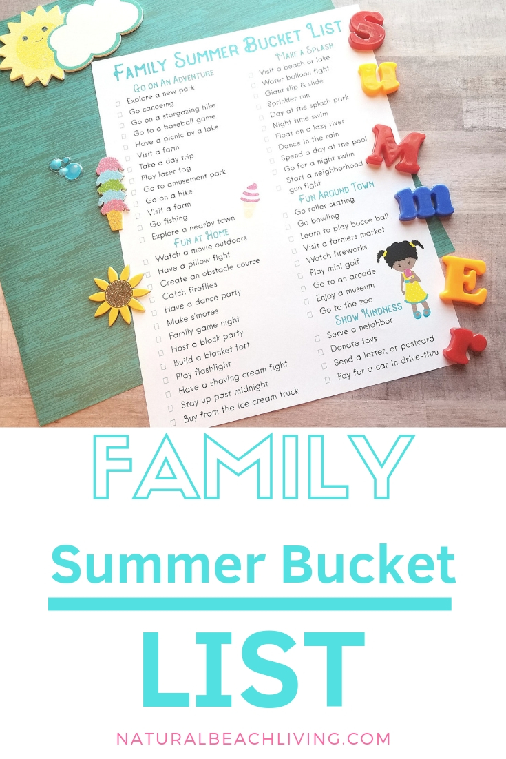 Summer Bucket List Printable – The Best Summer Activities
