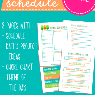 Summer Schedule for Kids – Summer Themes and Summer Rules Kids Will Love