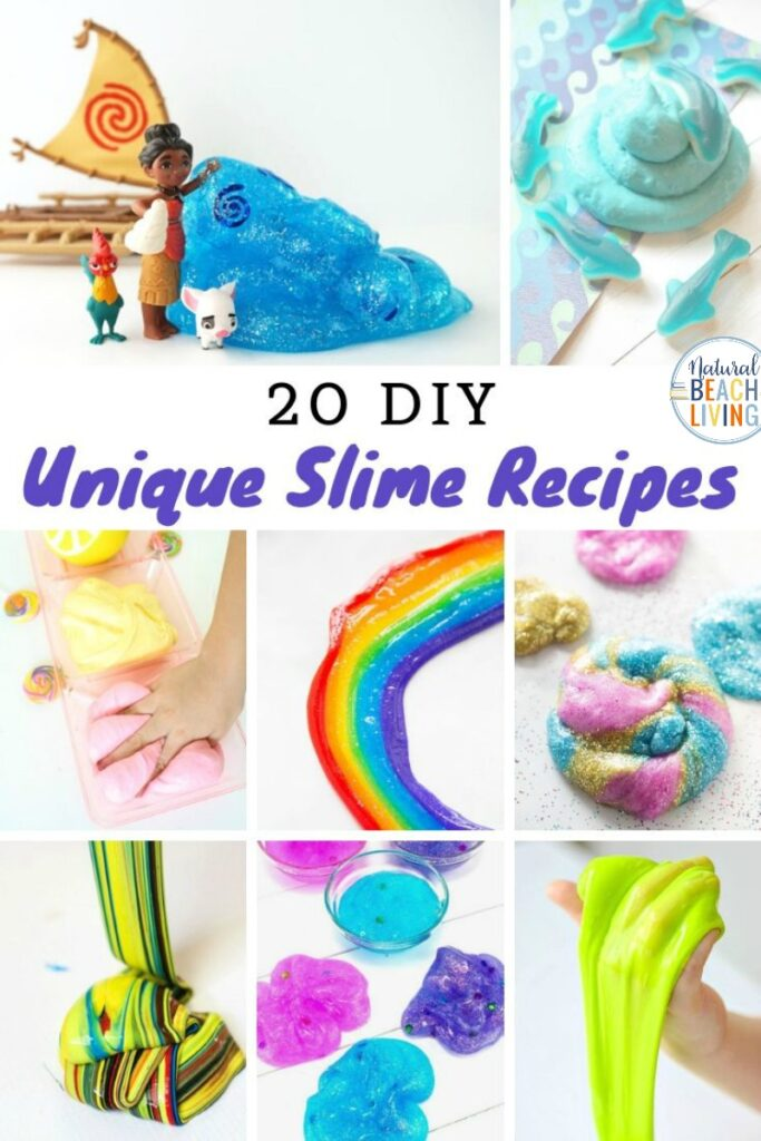 50+ Unique Slime Recipes and lots of cool ways to make slime from basic ingredients and recipes. These are some of the best slime recipes, and they are sure to excite your kids. Here you will find clear slime, contact solution slime, unicorn slime, rainbow slime, fluffy slime, and so many more.