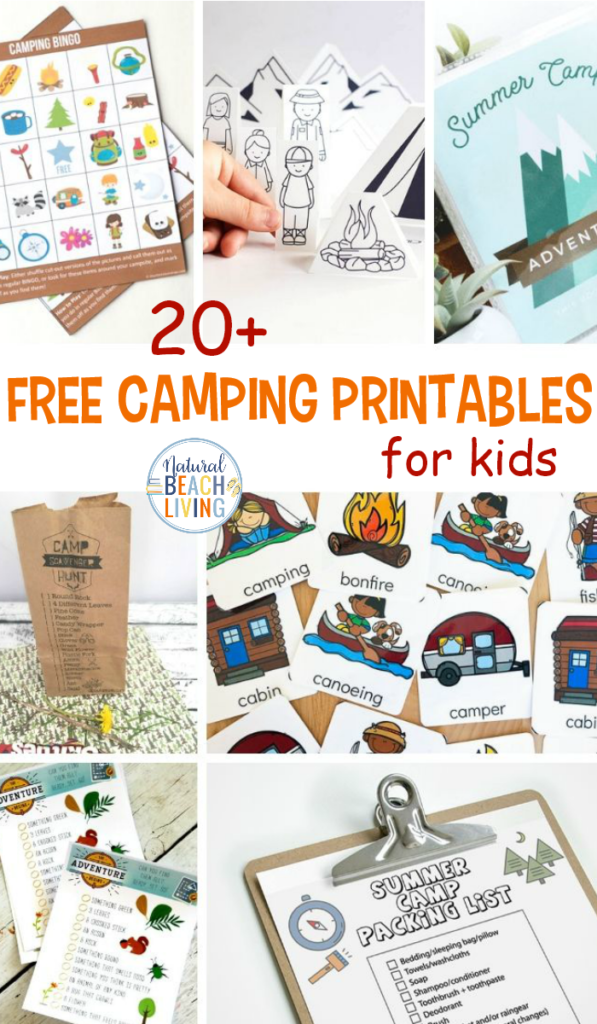 20+ Free Camping Printables for Kids - Natural Beach Living