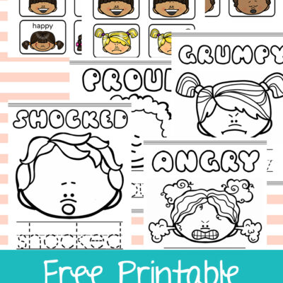 Free Printable Emotion Faces and Activities