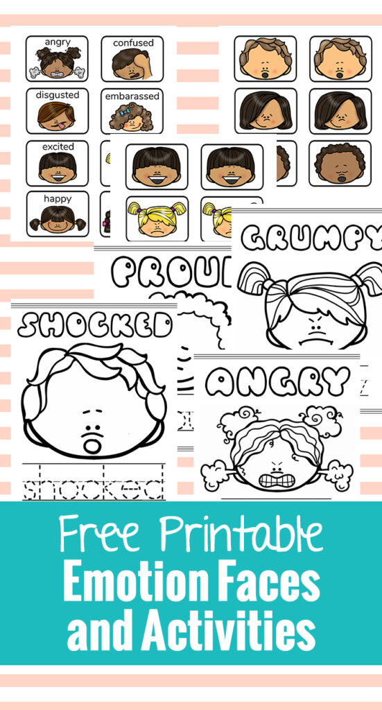 graphic regarding Free Printable Emotion Faces called Free of charge Printable Sensation Faces and Pursuits - Natural and organic Seaside