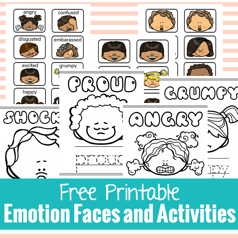 graphic relating to Feelings Cards Printable called Free of charge Printable Sensation Faces and Things to do - Organic and natural Beach front