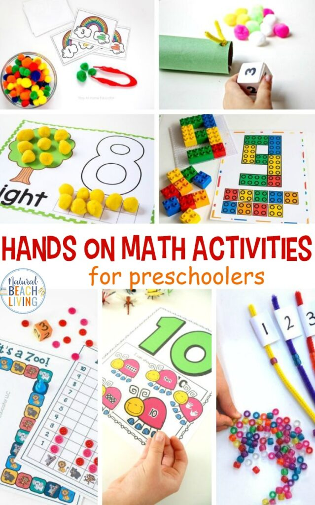 These Hands on Math Activities are perfect for preschool children. Math learning can be fun and these preschool activities prove that! These Hands on Math Activities for preschoolers are a great way to combine fine motor skills and learning. Hands on Math Activities for Kindergarten are the best for learning in a fun way.