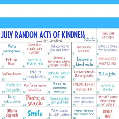 July Random Acts of Kindness Ideas