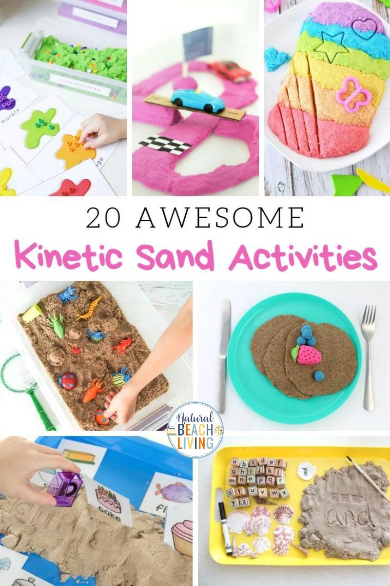Kinetic Sand Activities – Cool Sensory Activities Kids Love