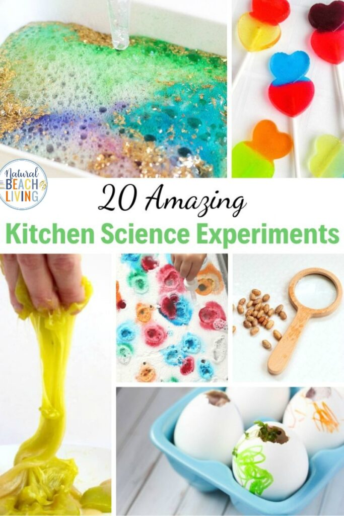 These Kitchen Science Experiments are a great and fun way to encourage learning in your children. From Toddlers to Teens have fun creating Very Simple Science Experiments at home! Kitchen chemistry reactions and homemade kitchen science experiments for kids, Find The Best Science Activities for Kids Here!