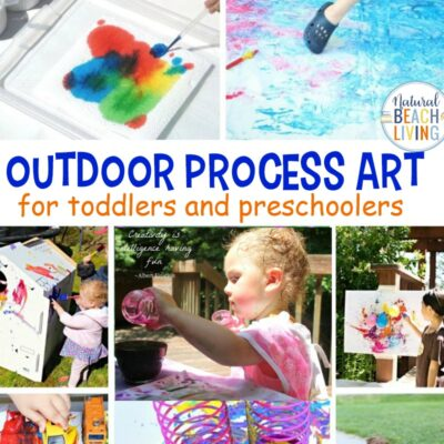 20+ Outdoor Process Art for Preschoolers