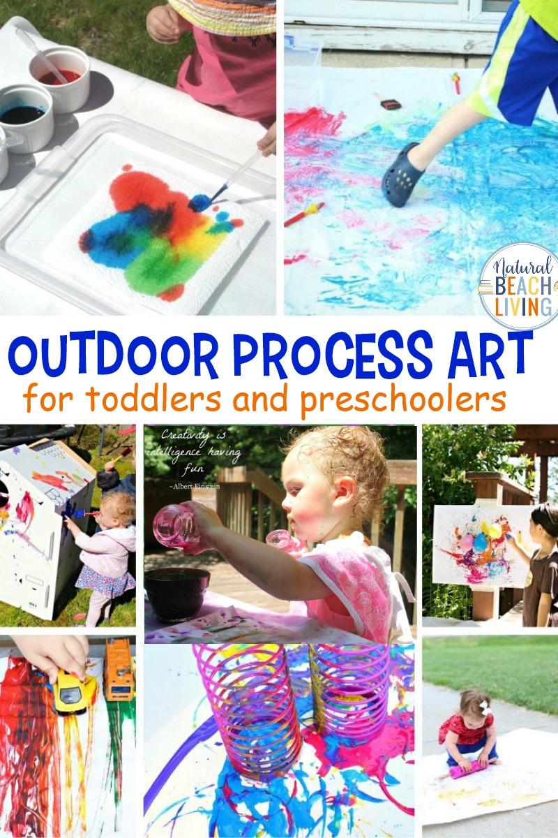 20+ Outdoor Process Art for Preschoolers