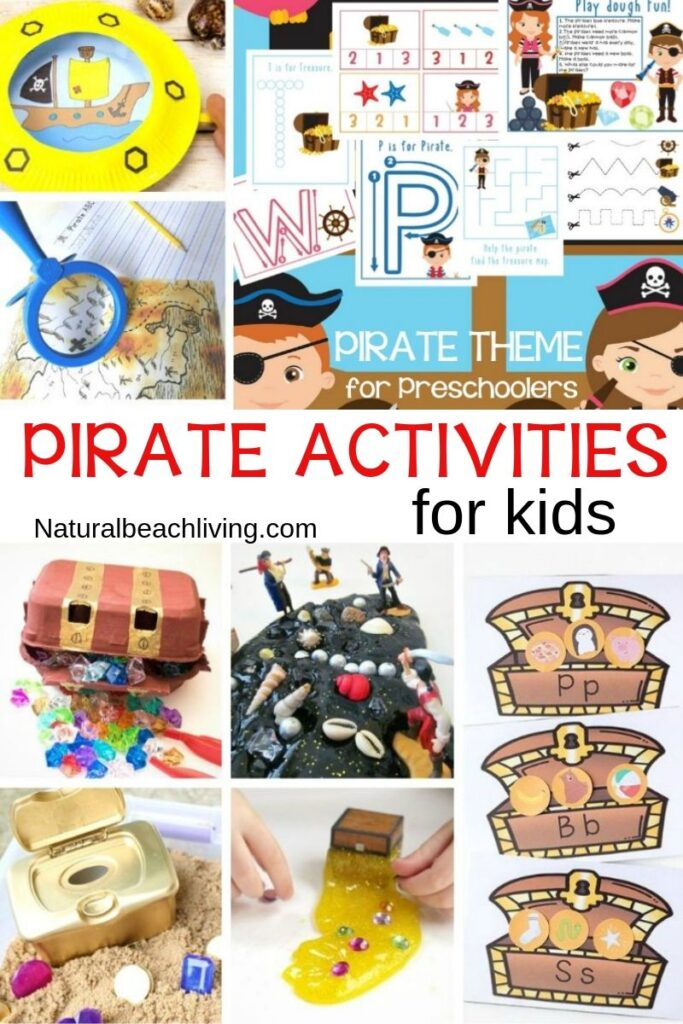 Pirate Activities for Kids, 35+ Ocean Theme Activities for Preschool and Kindergarten, Hands on Ocean Activities for kids, ocean theme preschool lesson plans, ocean theme preschool crafts, preschool ocean theme printables, Pre k Ocean Theme Literacy and Math activities, Under the Sea and Ocean Theme Science, Art, Sensory, Fine Motor Activities, Math