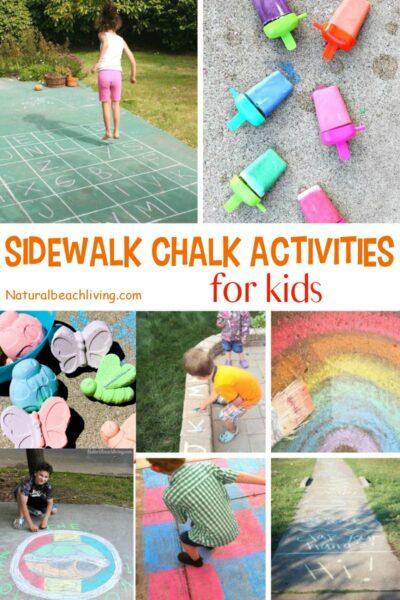 Sidewalk Chalk Activities for the Summer
