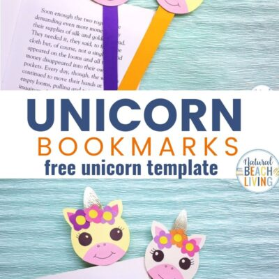 Unicorn Bookmarks with Printable Unicorn Template