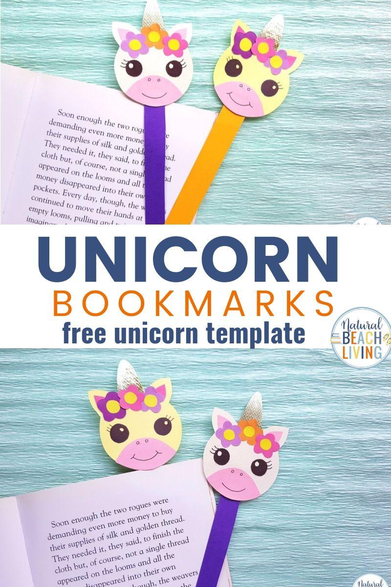 Unicorn Bookmarks with Printable Unicorn Template