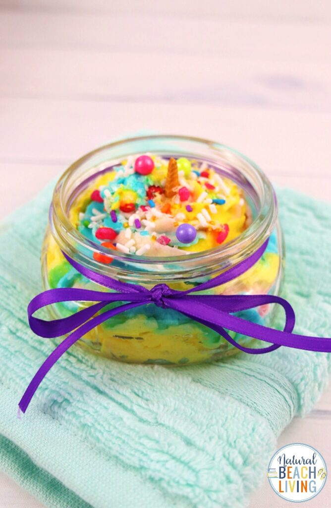 This Unicorn Whipped Soap is so fun and easy to make! Unicorn Soap, Have fun creating this DIY soap recipe together with your child. It's such a unique and easy project. This Unicorn Soap makes a perfect party favor or unicorn theme activity too. Fluffy Whipped Soap