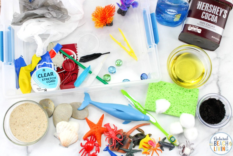 These Water Pollution Activities are so simple and easy to set up. Teach your kids about Pollution in a fun way. This pollution activity is a simple way to actually show children with real connections to nature on how pollution affects our environment. Pollution Science and Sensory Bin for Perfect Activities on Pollution