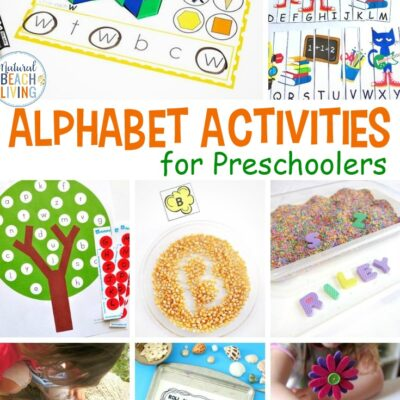 25+ Alphabet Activities for Preschoolers