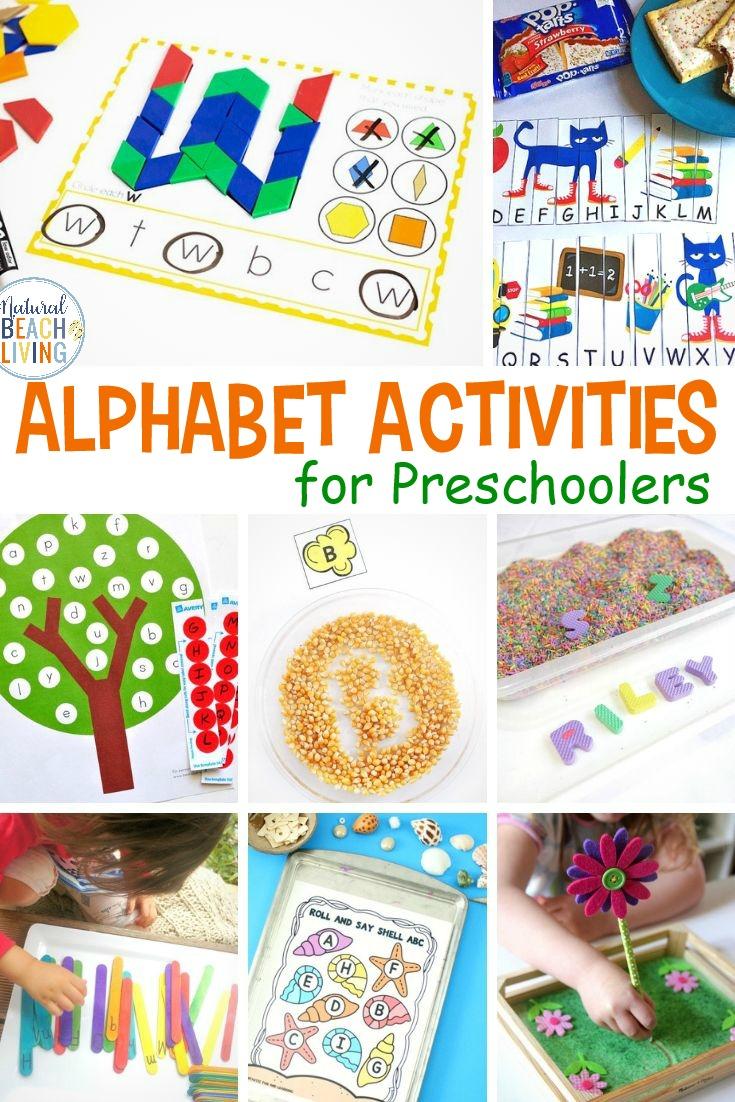 25+ Alphabet Activities for Preschoolers