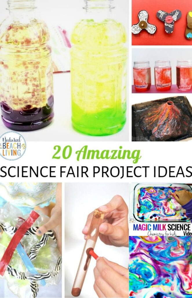 These science fair project ideas are so simple and fun! Plus, they're perfect to create with your child for school. It's going to be hard to pick just one! Easy Science Fair Projects for school, homeschool Science or fun Science activities. Science Experiments for Kids and Fun Science Fair Project Ideas
