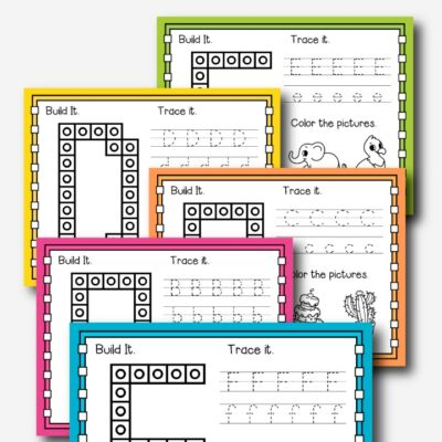 Alphabet Snap Cube Mats Preschool and Kindergarten Printables