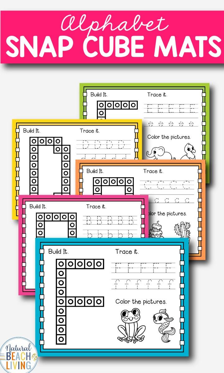 Alphabet Snap Cube Mats Preschool and Kindergarten Printables