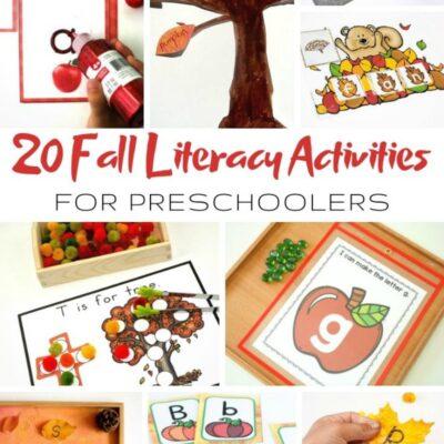 25+ Fall Literacy Activities for Preschoolers