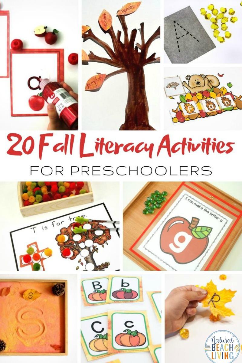 32+ Fall Literacy Activities for Preschoolers and Kindergarten