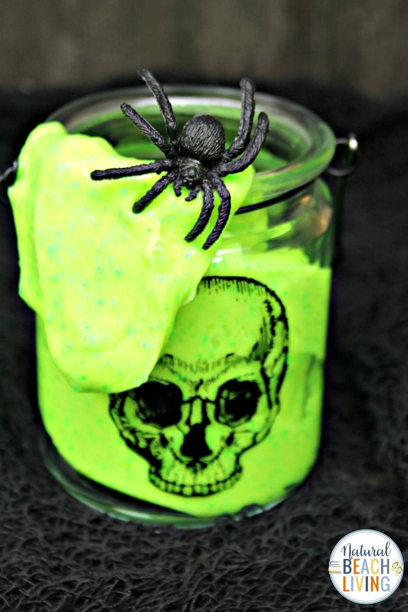 Glow in the Dark Slime Recipe with Contact Solution