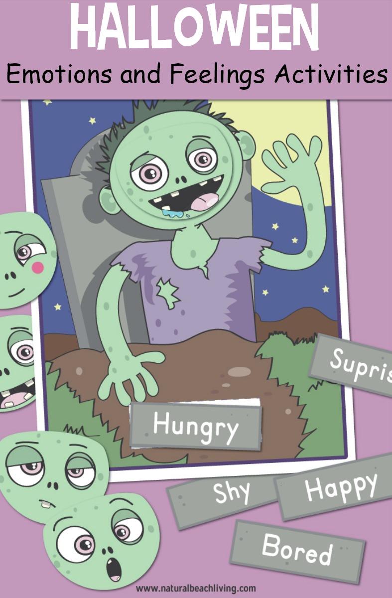 Halloween Preschool Emotions Printables – Emotion Activities for Preschoolers