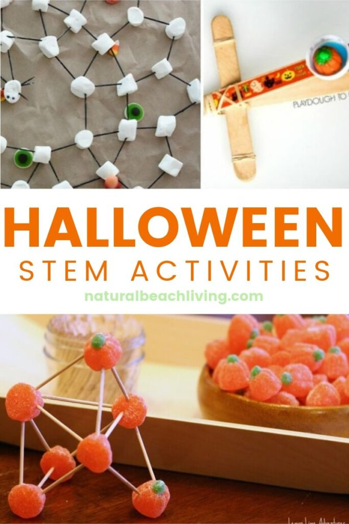 Halloween STEM for Preschool and Kindergarten, Halloween Engineering Projects, Pumpkin Activities, Halloween Science, Halloween Slime, Hands-on activities
