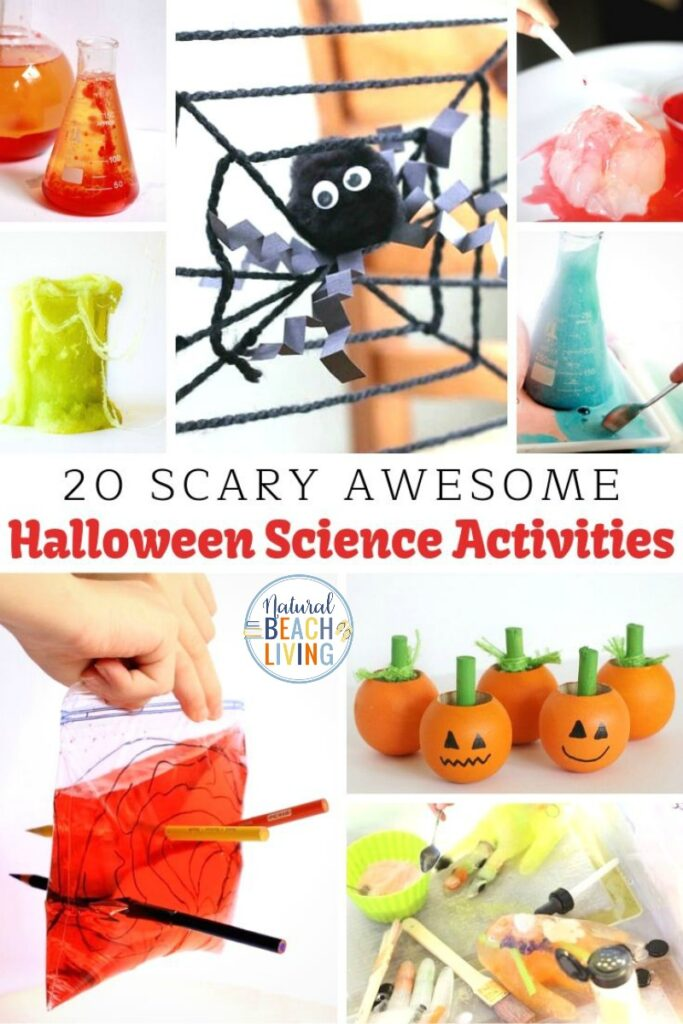 25 Halloween Science Activities for preschoolers. Your children will love these not so scary Halloween Science experiments and STEM projects. Easy science experiments like pumpkin volcanos, candy experiments, witch's brews and more. This list of Science Experiments for Preschoolers is perfect for school, homeschool, and spooky Halloween parties!