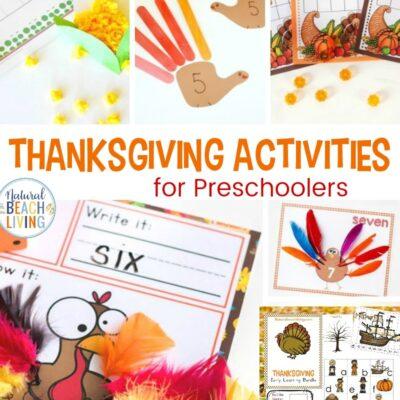 20+ Thanksgiving Activities for Preschoolers