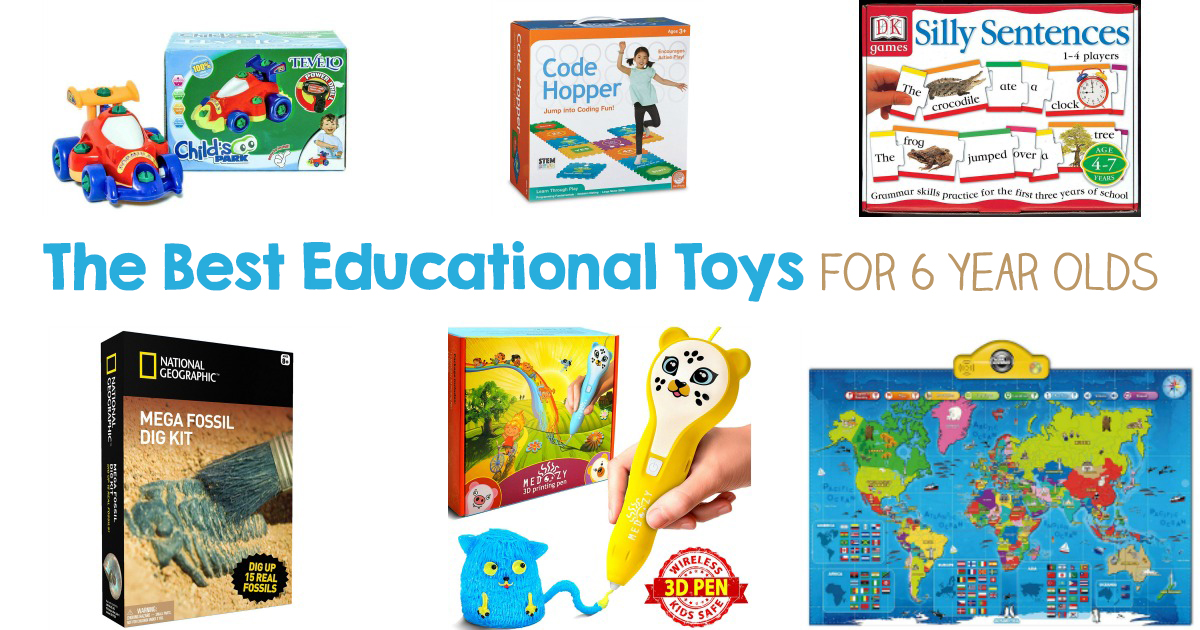 Don't miss out on this massive list of educational toys for 6 year olds. You'll find some of the Best toys for 6 year olds that are great holiday gifts, birthday gifts, or even to add a few fun and educational toys to your child's playtime. Montessori Toys, Learning Toys, gross motor toys, and more.