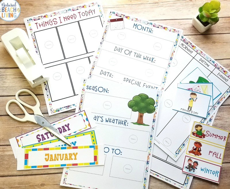 Setting a daily schedule for kids isn't hard to do and it's actually a great practice to set into place for  young children. With this Visual Schedule Printable Kids find comfort in knowing that there is order and Routine. Perfect Picture Schedule with Emotions Cards and a Daily Schedule for Kids