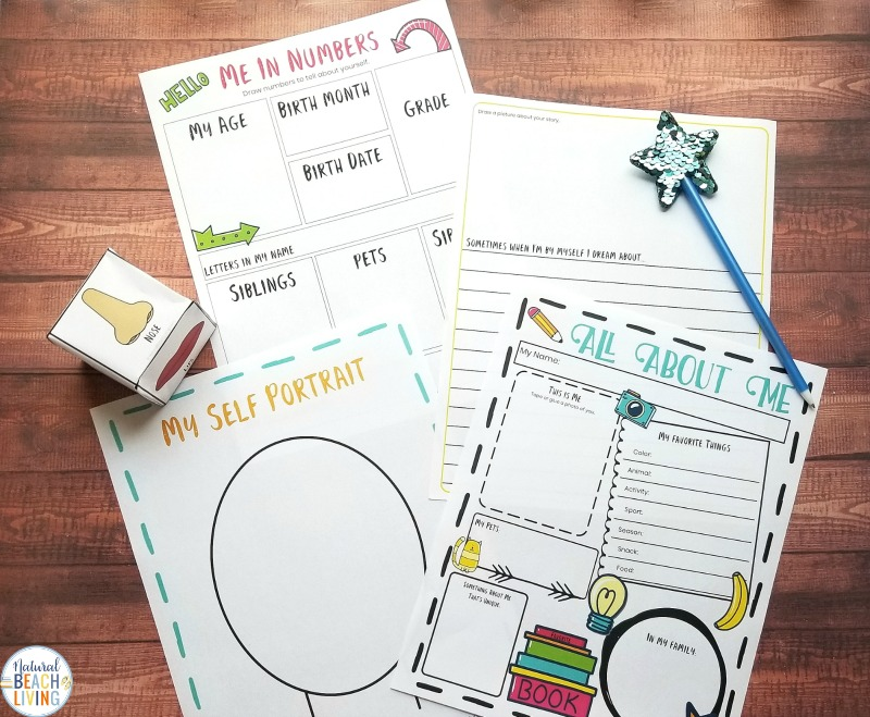 Kids Love Learning Themes and these All About Me Theme Printables and Activities that include preschool lesson plans, All About Me activities, and hands-on activities that are fun for preschool, kindergarten, and first grade.