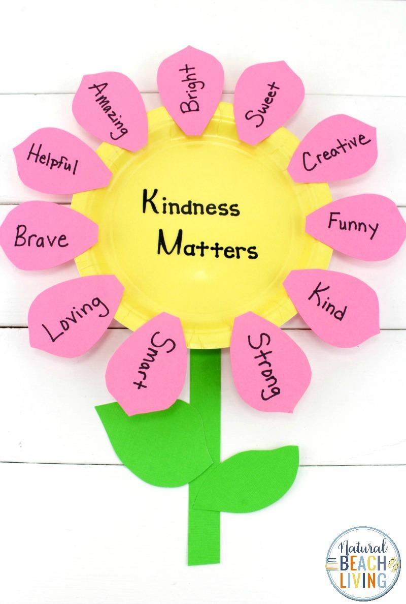 Kindness Flower Craft for Preschoolers and Kindergarten