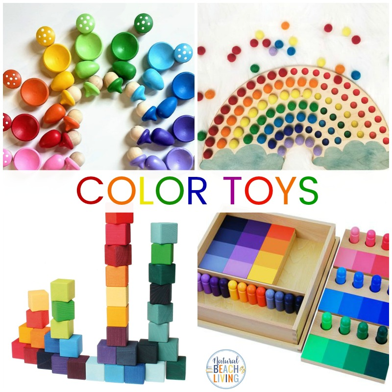 These Montessori Toys for Learning Colors and exploring colors are perfect for your toddlers and preschoolers. You'll find The Best Montessori Toys for 2 year olds, 3 year olds, and Montessori Toys by age, Plus, The Best Educational Toys for Kids that will help your child learn and grow happily.