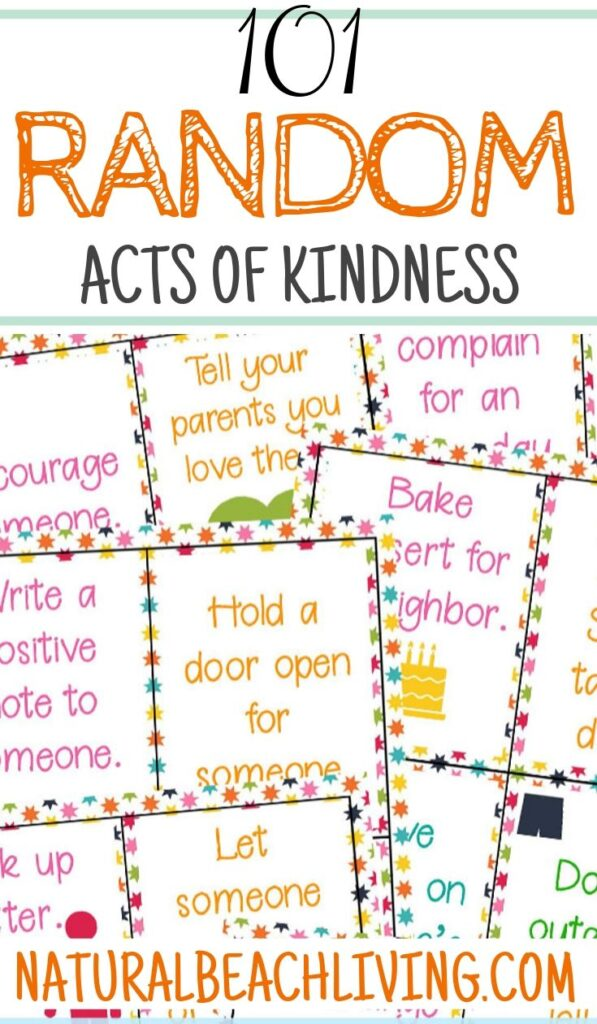 101 Random Acts of Kindness Ideas, All The Best Acts of kindness and Random Acts of Kindness Examples for Everyone, Acts of Kindness for Kids, You'll find over 200 Easy Random Acts of Kindness and Small acts of kindness. Plus, Kindness Printables and Kindness Activities!