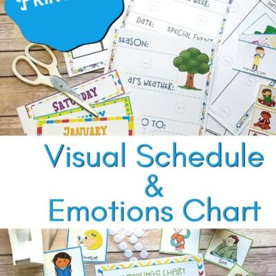 Daily Schedule for Kids – Picture Schedule and Autism Visual Schedule Printables