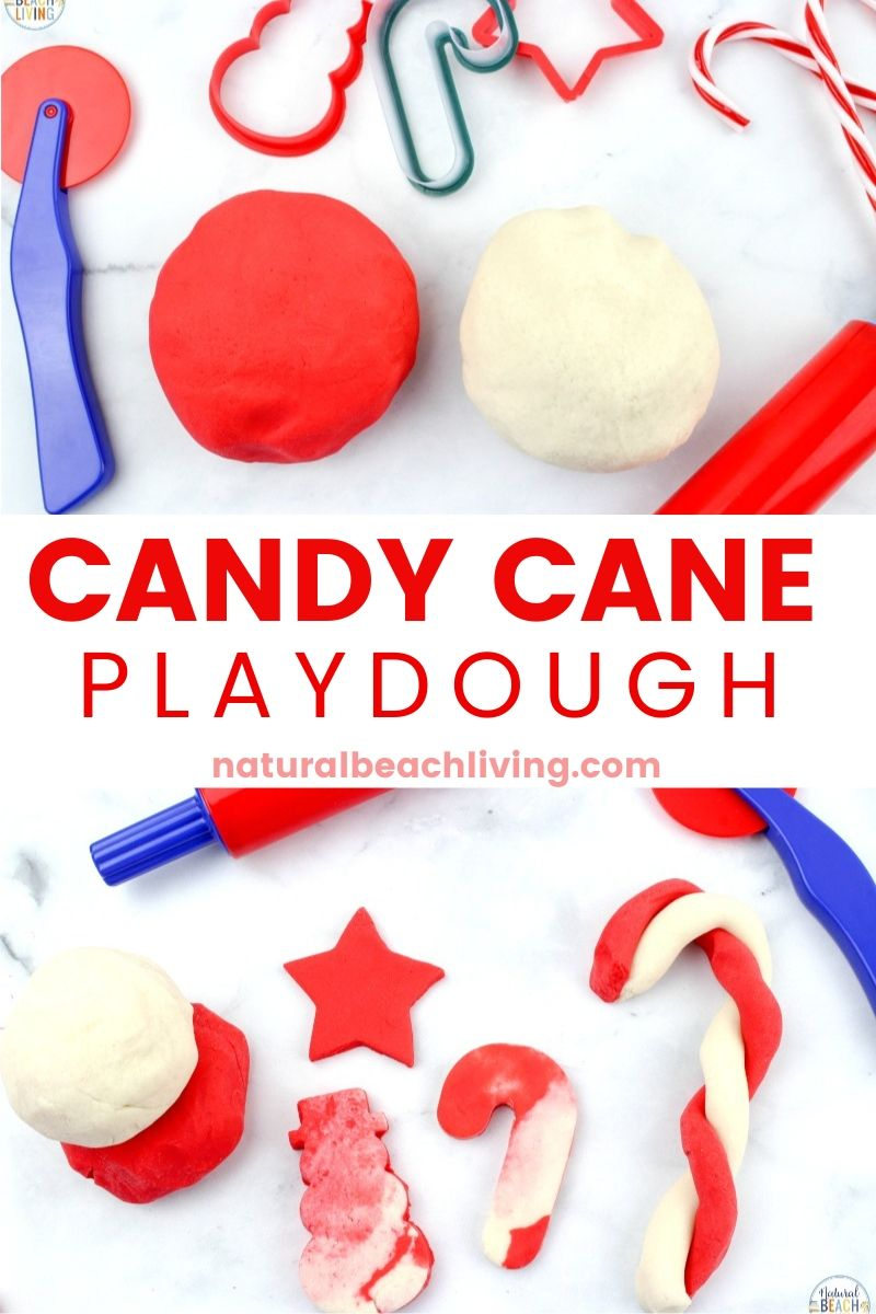 Candy Cane Playdough Recipe this No Cook Scented Playdough is Amazing