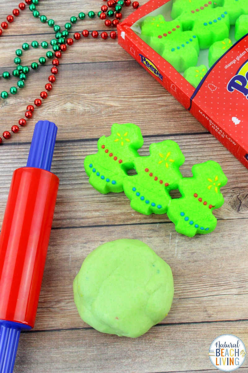 Christmas Peeps Playdough – Easy Homemade Playdough That's Edible
